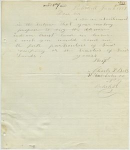 Letter from Charles F. Betts to unidentified correspondent