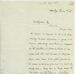 Letter from E. F. Burr to Joseph Lyman
