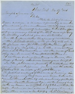 Letter from Charles W. Elridge to Joseph Lyman