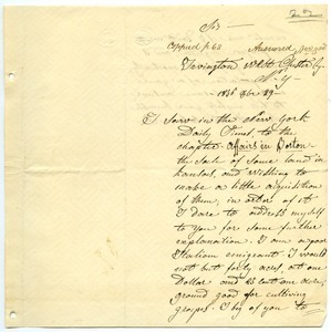 Letter from Bertolone F. to unidentified correspondent
