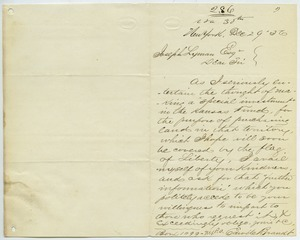 Letter from Edward Brandt to Joseph Lyman