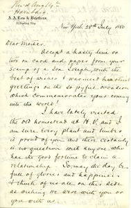Letter from Joseph Lyman to Catherine Lyman