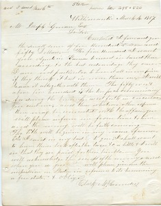 Letter from Clark M. Laundey to Joseph Lyman
