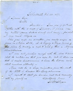 Letter from Chester W. Chapin to Joseph B. Lyman