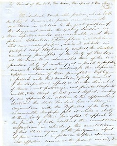 Letter from Samuel Fowler Lyman to Friends of Free Soil, labor, speech, and man