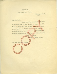 Letter from Frank Lyman to unidentified correspondent