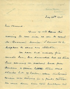Letter from Frank Lyman to Howard A. Dalton