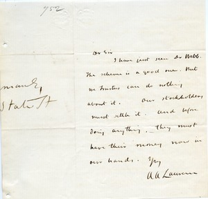 Letter from A. A. Lauren to Joseph Lyman