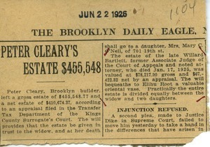 Newspaper clippings: Brooklyn Daily Eagle
