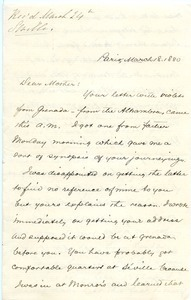 Letter from Frank Lyman to Catherine Lyman