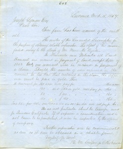 Letter from H. M. Simpson to Joseph Lyman