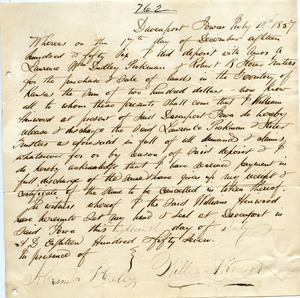 Letter from Alexander Heally and William Hinwood to Joseph Lyman