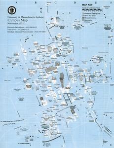 University Of Massachusetts Amherst Campus Map Digital Commonwealth