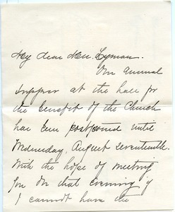 Letter from Alice P. Briggs to FLorence Porter Lyman