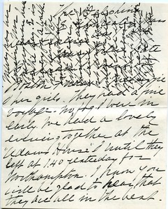 Letter from Abby G. Porter to Florence Porter Lyman