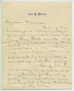 Letter from Anna S. Porter to Florence Porter Lyman