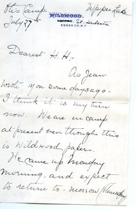 Letter from H. H. Porter to Florence Porter Lyman