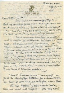 Letter from Mary W. Lauman to George and Frances Lauman