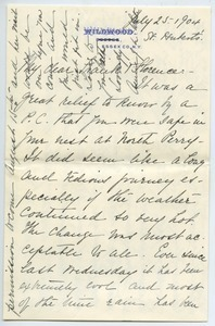 Letter from Annie Jean Lyman to Florence Porter Lyman