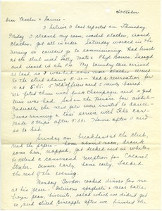 Letter from Mary W. Lauman to Frances and Sancie Lauman