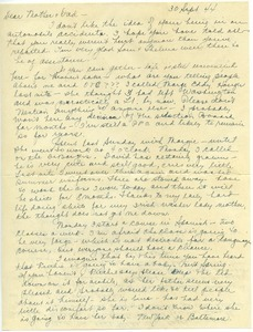 Letter from Mary W. Lauman to Frances and George Lauman