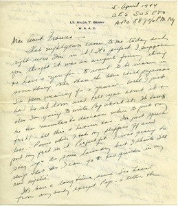 Letter from Hilda T. Berry to Frances Lauman