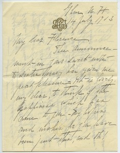 Letter from Alice Tuckerman to Florence Porter Lyman