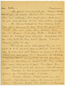 Letter from Mary W. Lauman to Frances Lauman