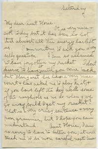 Letter from Anna Lyman to Florence Porter Lyman