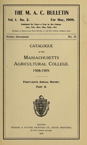 Catalogue, 1908-09. M.A.C. Bulletin vol. 1, no. 2