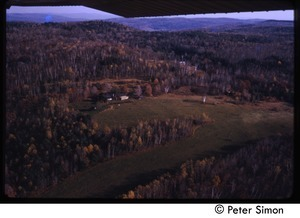 Aerial view of Tree Frog Farm commune