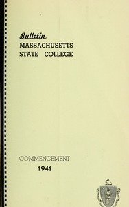 Commencement 1940. Bulletin Massachusetts State College 33, no. 5