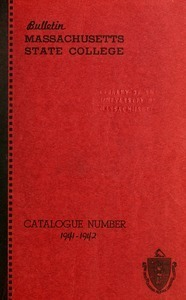 Catalogue of the College, 1941-42. Bulletin Massachusetts State College vol. 34, no. 1
