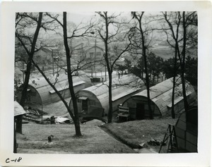 Quonset huts seen from above