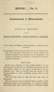 Annual report of the Massachusetts Agricultural College