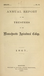 Annual report of the Trustees of the Massachusetts Agricultural College