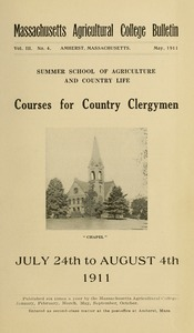 Courses of study for country clergymen, July 24th to August 4, 1911: Summer School of Agriculture and Country Life. M.A.C. Bulletin vol. 3, no. 4