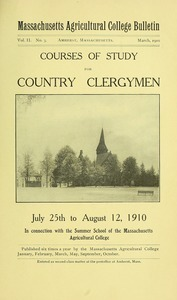 Courses of study for country clergymen, July 25th to August 12, 1910. M.A.C. Bulletin vol. 2, no. 3