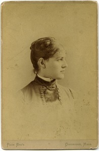 Alice Thacher Channing: studio portrait, bust in profile
