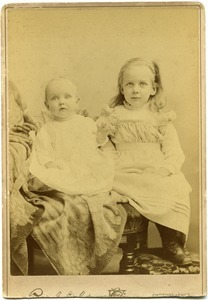 Alice (right) and Elizabeth Channing: studio portrait of sisters