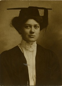 Alice Channing: portrait in academic robes