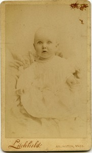 Alice Channing: studio portrait as an infant