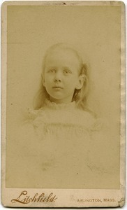 Alice Channing: studio portrait as a young girl