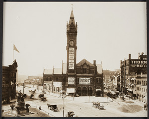 Exterior view of the Boston and Providence Railroad Station, Park Square, Boston, Mass., ca. 1905