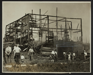 Barn fire, Waltham, Mass., Aug. 1931