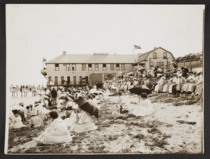 Beach & Cottage Club, north, watching the water sports, Falmouth Heights, Mass.