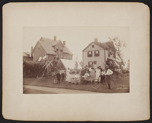 Group of people celebrating Independence Day, Medford, Mass., July 4, 1893