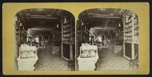 Interior view of Brown's Drug store, Boston