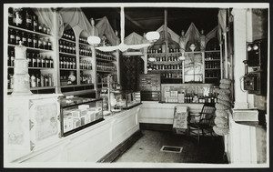 Hadcock's drug store, Dale & Washington Streets, Roxbury, Mass. Interior