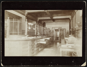 Interior view of the Merchants National Bank, Lawrence, Mass., undated